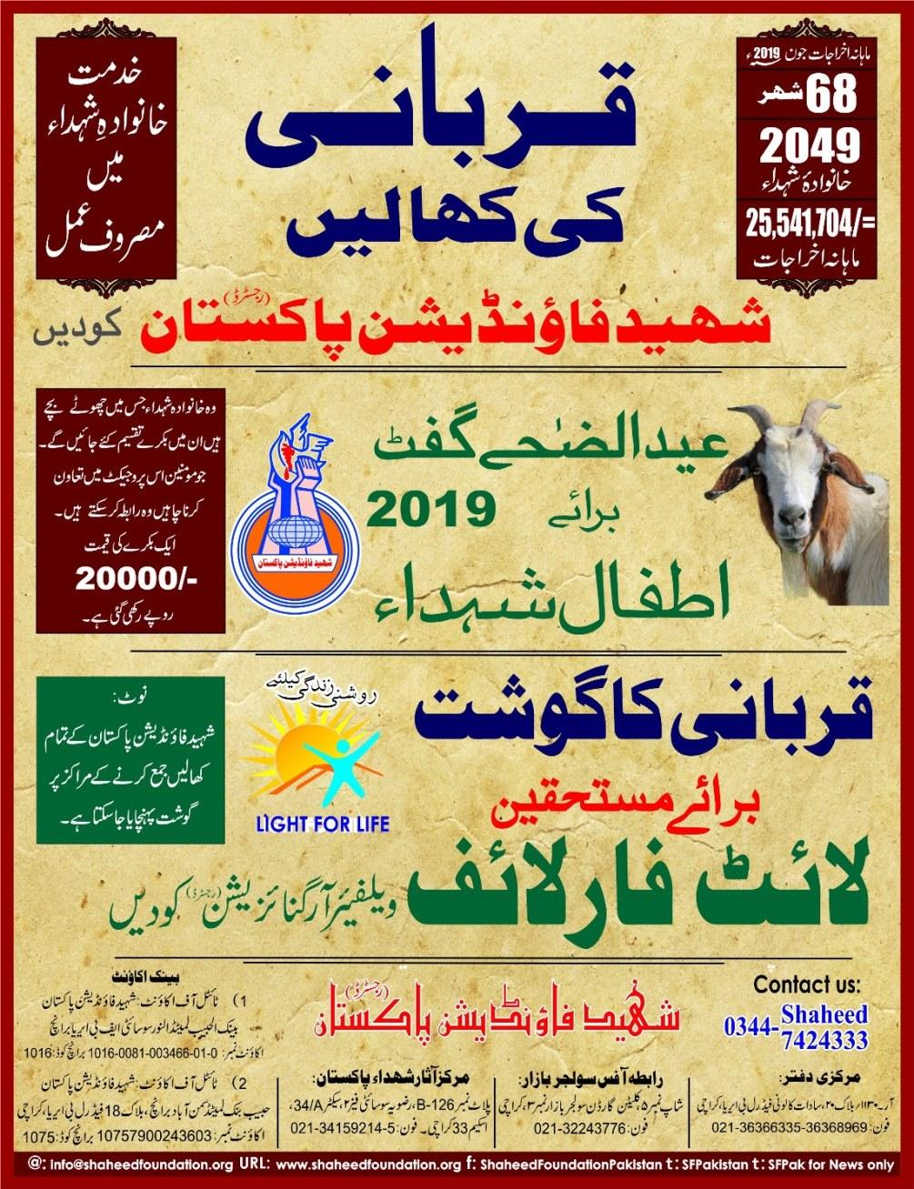 Eid Qurban Projects 2019