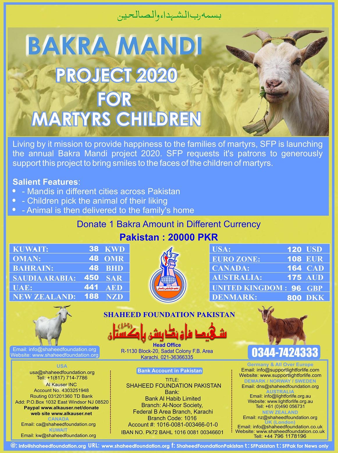 Bakra Mandi 2020 for Martyrs Children