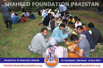 Picnic for the families of Shohada of Rawalpindi and Islamabad 2015