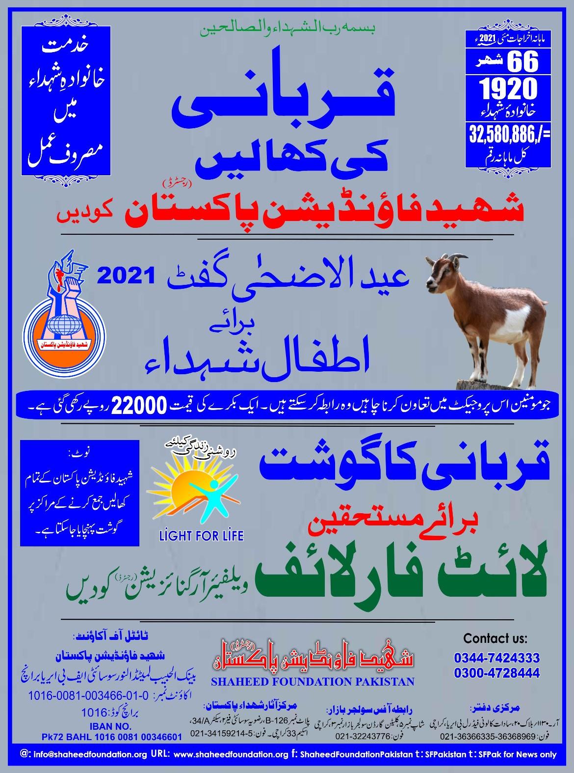Eid e Qurban Projects 2021